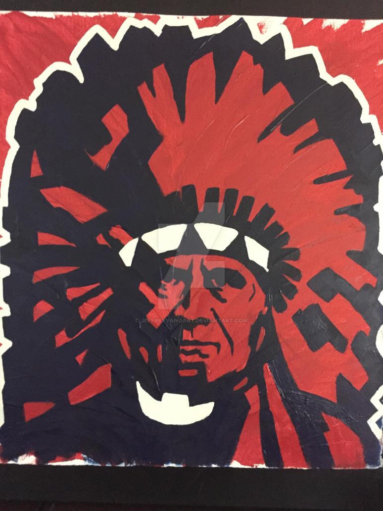 Chief Wahoo (Chief Thunderwater) by JeffreyVanoArt