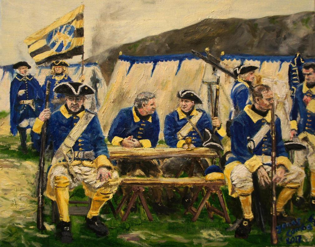 Kungliga Elfsborghs Regemente 1718 by JonasComba