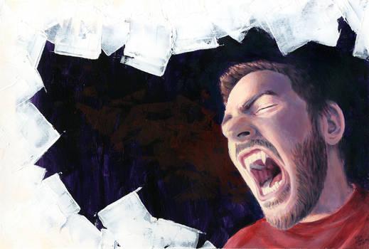 Selfportrait of a werewolf
