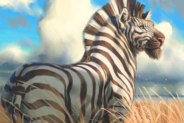 Lion Zebra Hybrid (Zion of Lebra) by ablaise