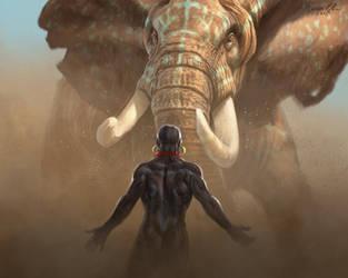 Aaron Blaise Nubian Warriors by ablaise