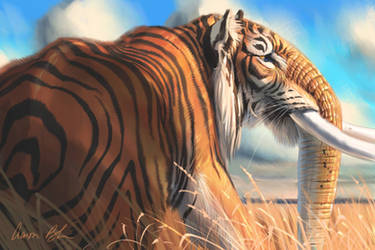 Tigerphat - Tiger Elephnat Hybrid by ablaise