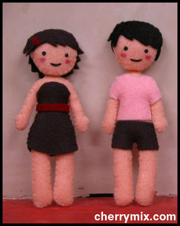 Haley and Zack dolls by coconut-lane