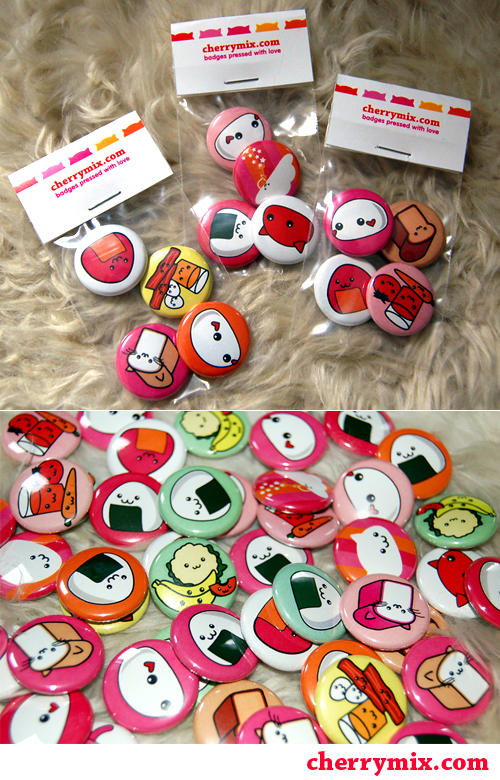 CherryMix Love Badges by coconut-lane