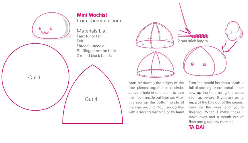 Mini Mochi Pattern Sheet by coconut-lane