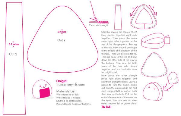 onigiri pattern by coconutlane on deviantart