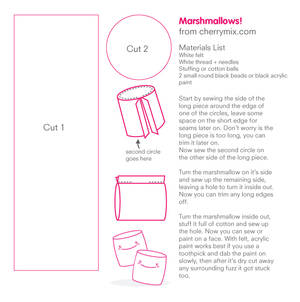 Marshmallow Pattern Sheet