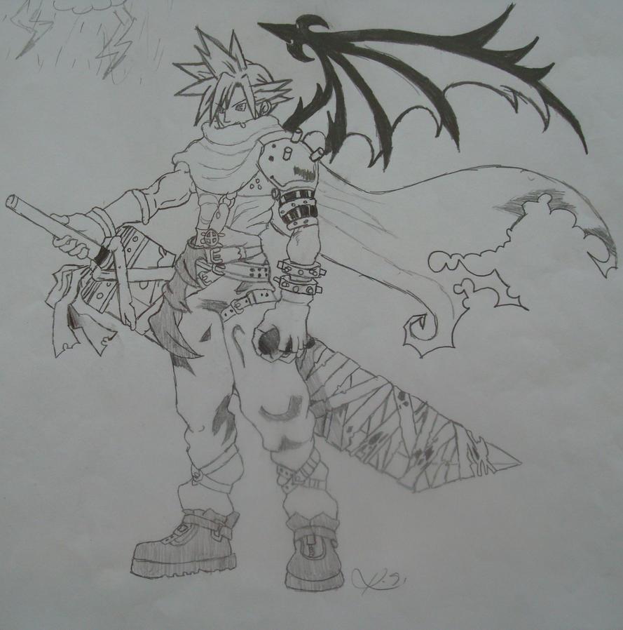 Cloud from Kingdom Hearts by frubafreak17