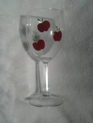 Hand Painted Applejack Wine Glass
