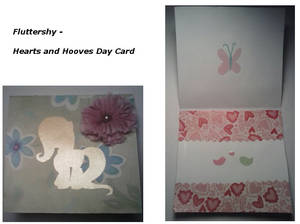 Fluttershy Hearts and Hooves Day Card 2