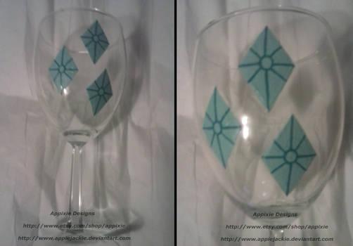 Hand Painted Rarity Wine Glass