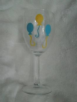 Hand Painted Pinkie Pie Wine Glass