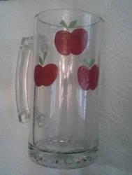 Hand Painted Applejack Mug Glass