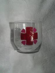 Hand Painted Nurse Redheart Mini Tumbler Glass