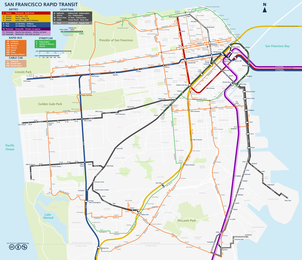 streetcar san francisco map San Francisco Streetcar Map By Qweqwe321 On Deviantart