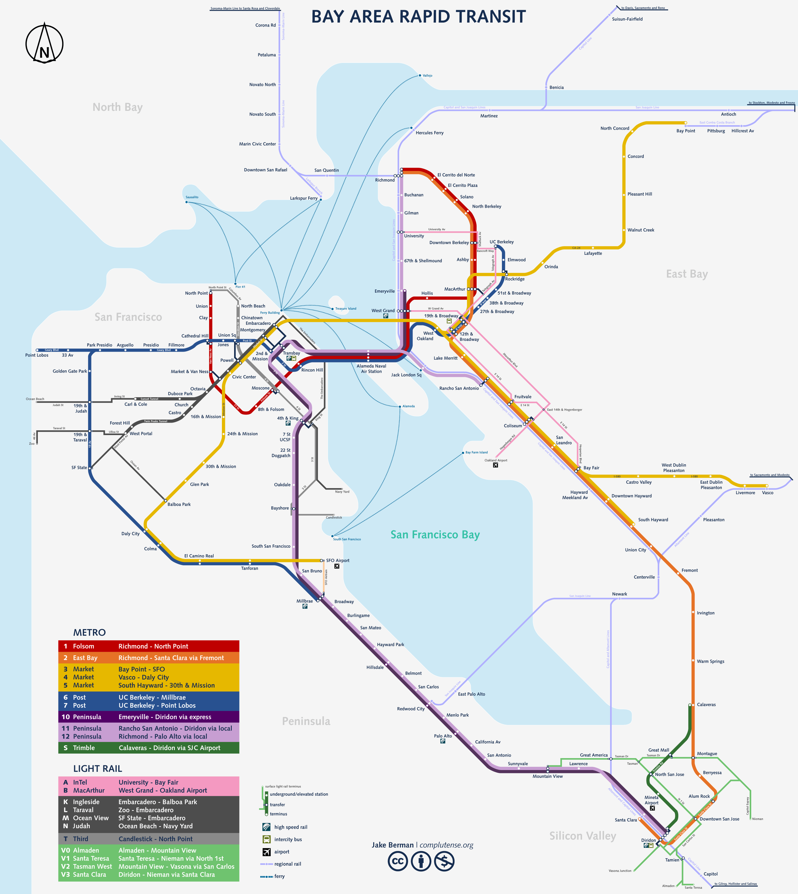 studio complutense » subway maps  san francisco bay area   - san francisco bay area  the companion rapid transit diagram of the bayarea