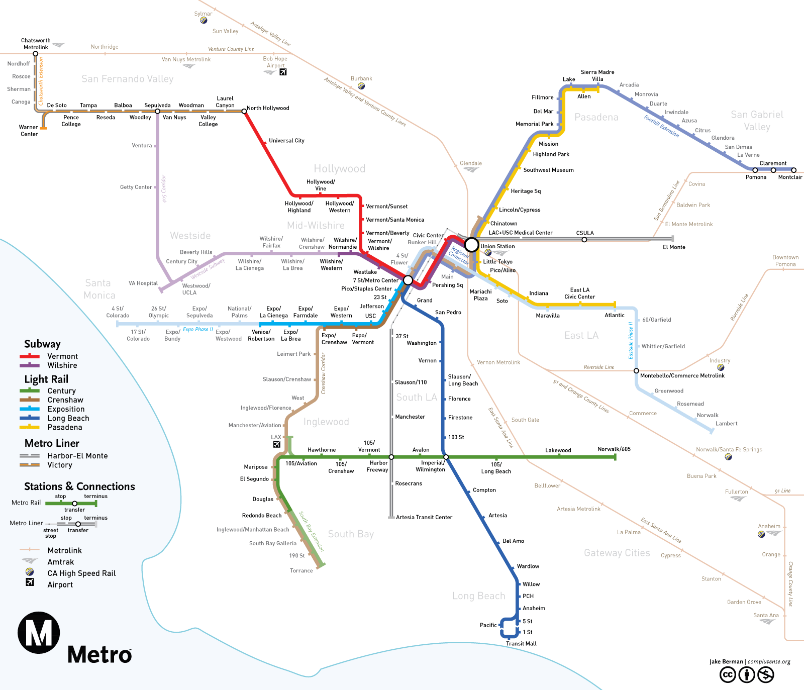 Subwaymaps Los Angeles 2020 Since My Last Map