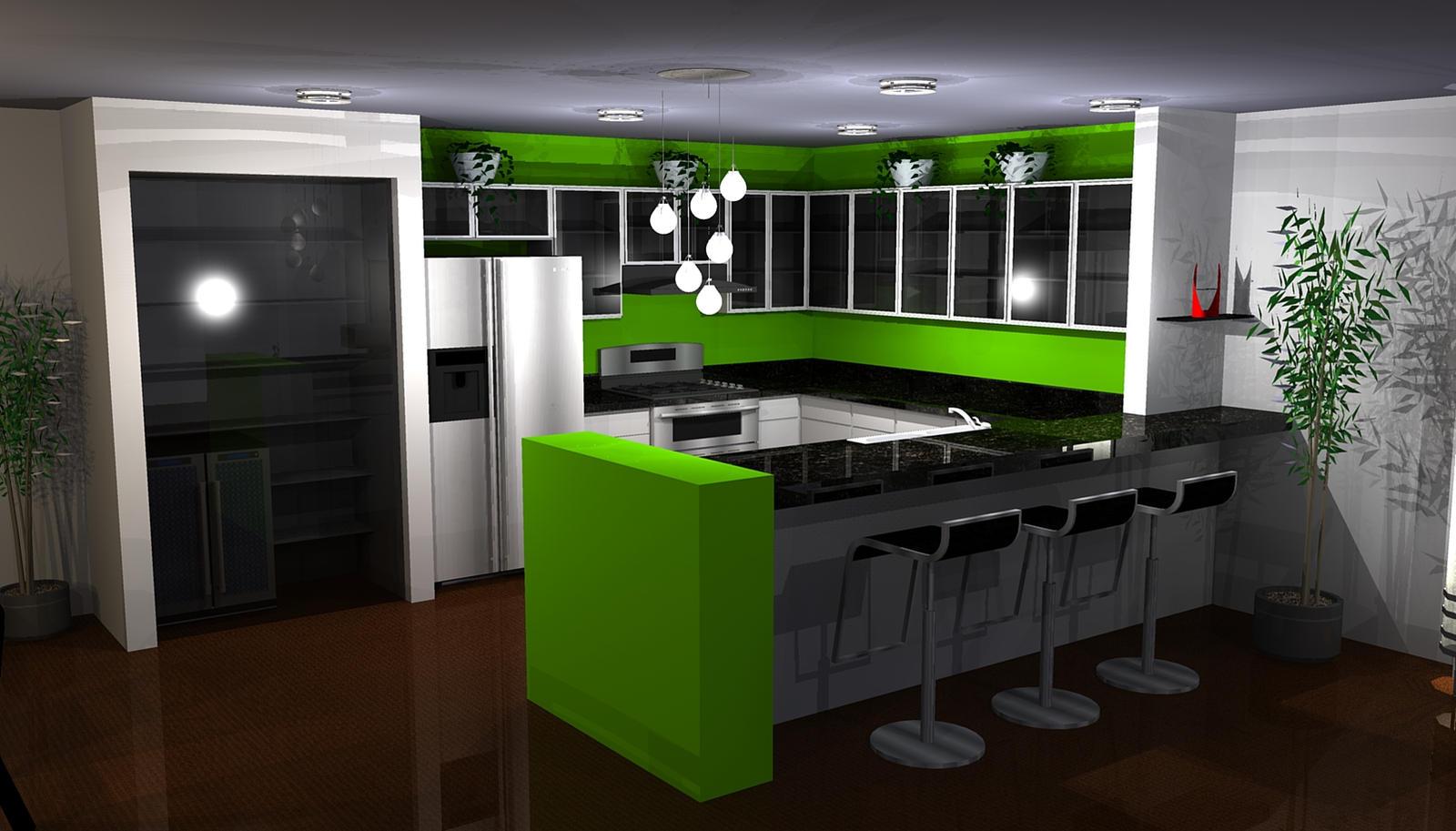Green Kitchen 2 By Puddleofplastic Green Kitchen 2 By Puddleofplastic