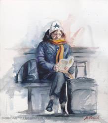 Waiting at Trainstation