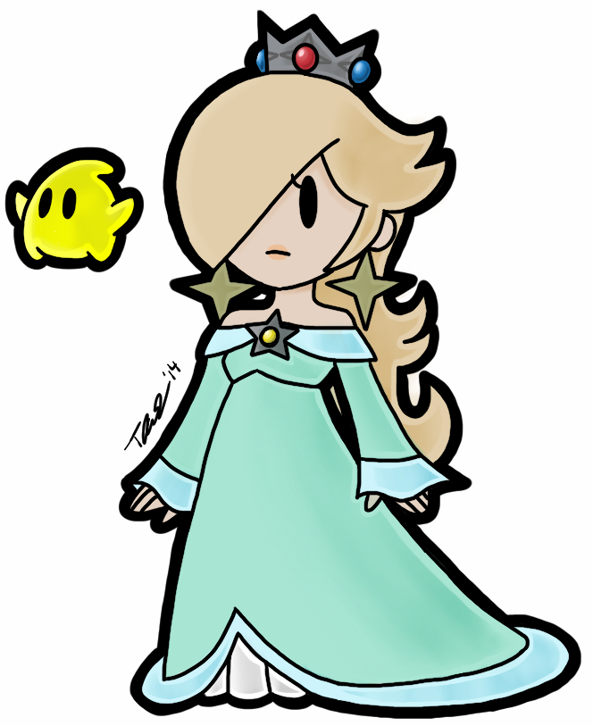 Daisy And Peach Coloring Pages Princess Rosalina Lineart