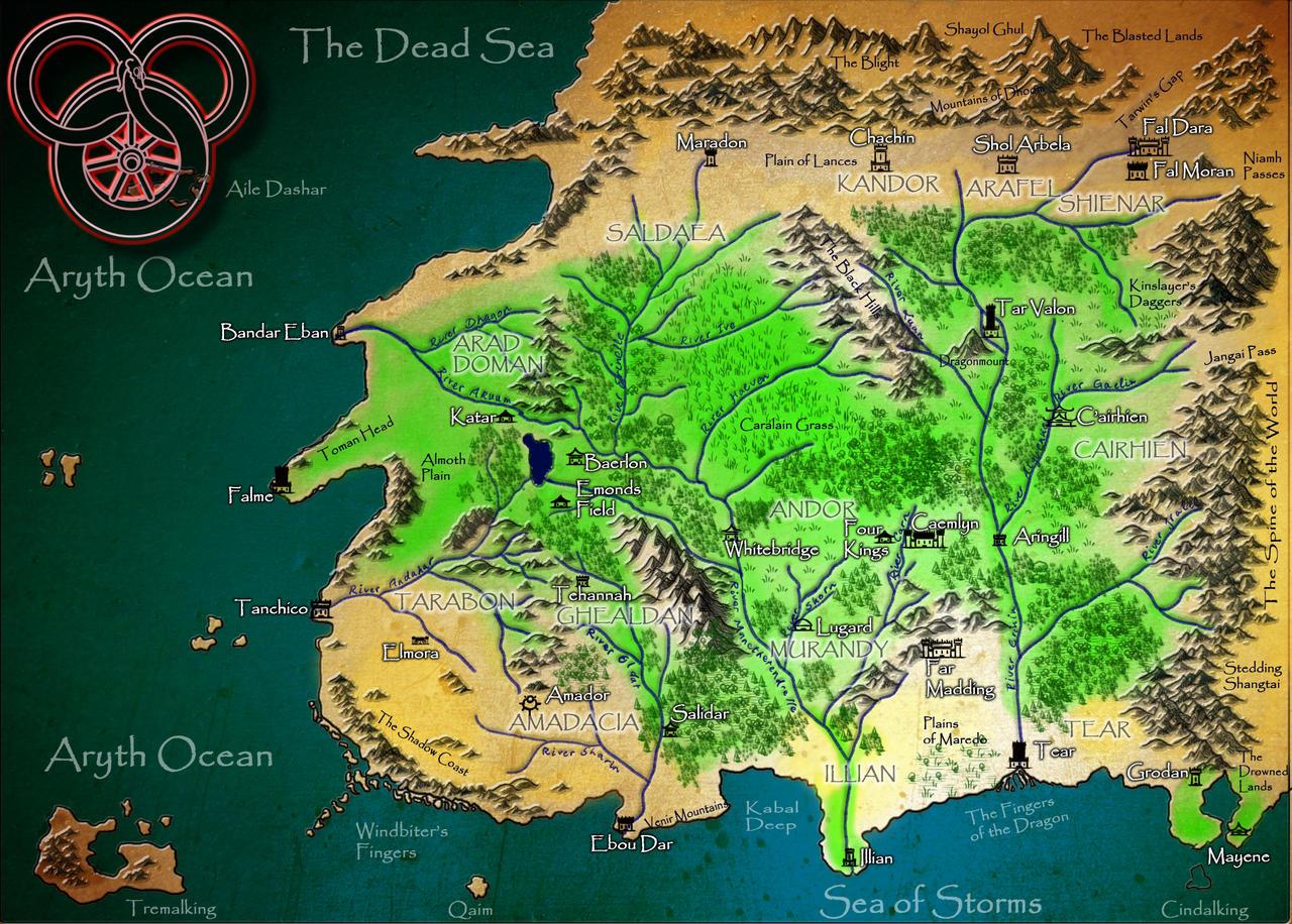 Wheel of Time Map by DeArtistZwei on DeviantArt