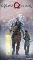 Kratos and his children by paulokenobi