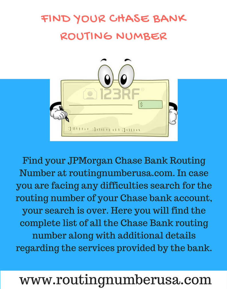 How to find JPMorgan Chase routing number? by
