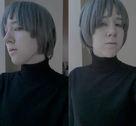 Quinton Makeup and Wig Test