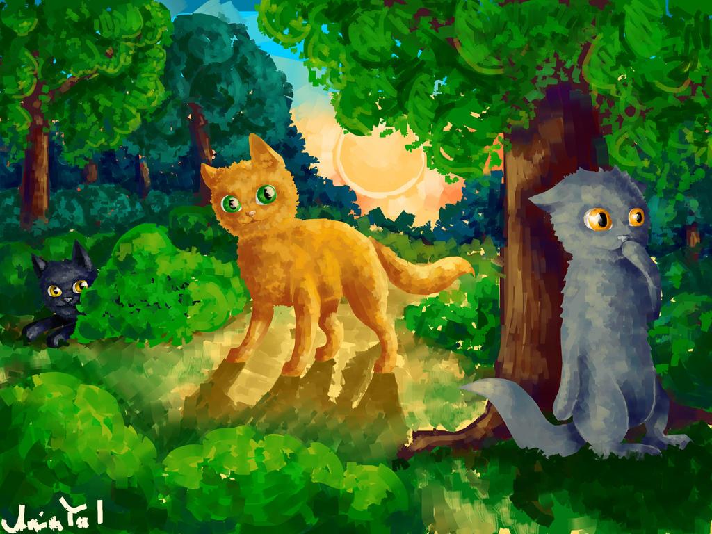 Картинки котов целителей