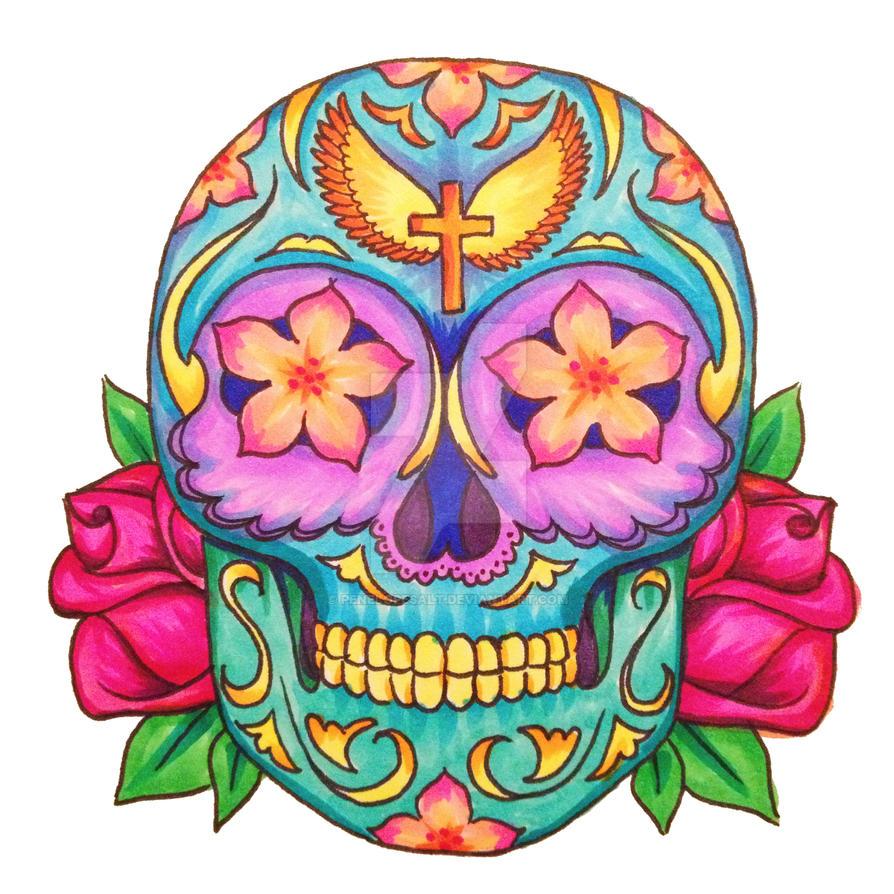 Candy Corpse Sugar Skull by PenelopeSalt