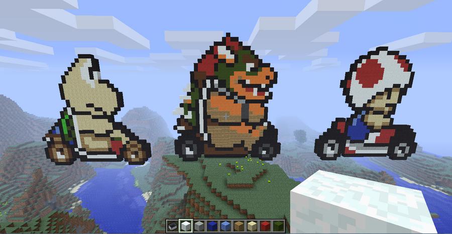 Minecraft Art Mario By Waffleman421 On Deviantart Frog Mario Minecraft ...