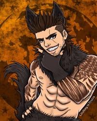 Werewolf Gladio - Final Fantasy XV by Lindsay-N-Poulos