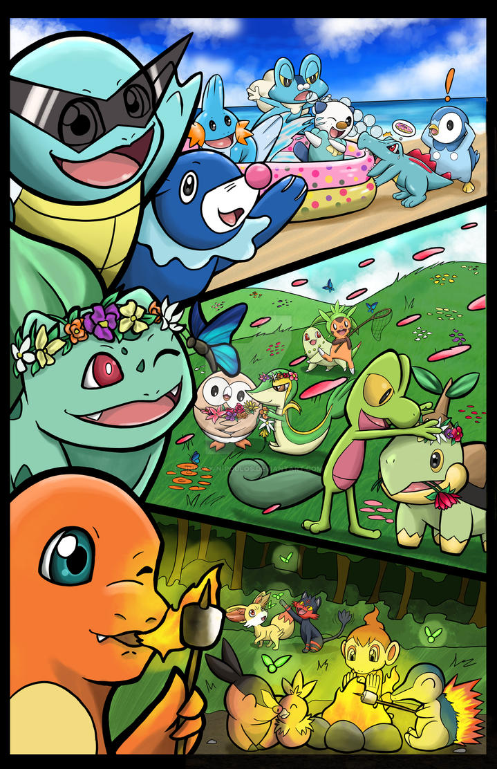 Starter Pokemon by Lindsay-N-Poulos