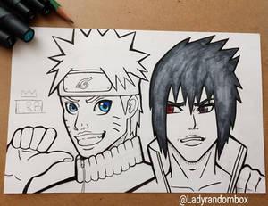 Naruto and Sasuke - commission
