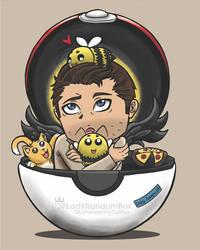 Castiel in a Pokeball - Supernatural