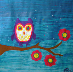 Owl Painting by laurynduerr
