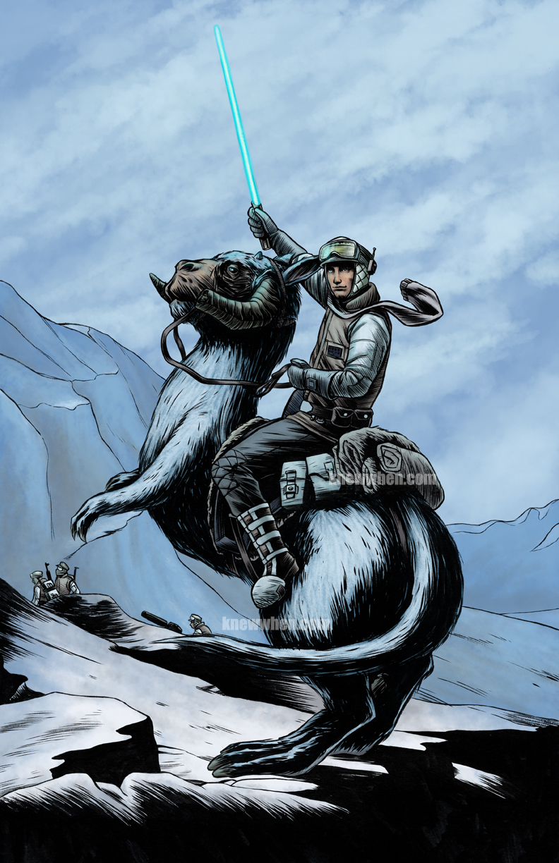 Luke Crossing Hoth by nguy0699