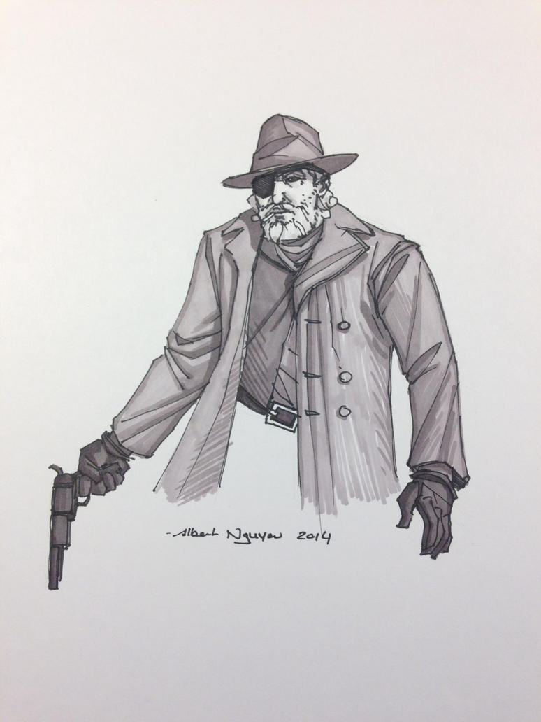 Rooster Cogburn Sketch by nguy0699