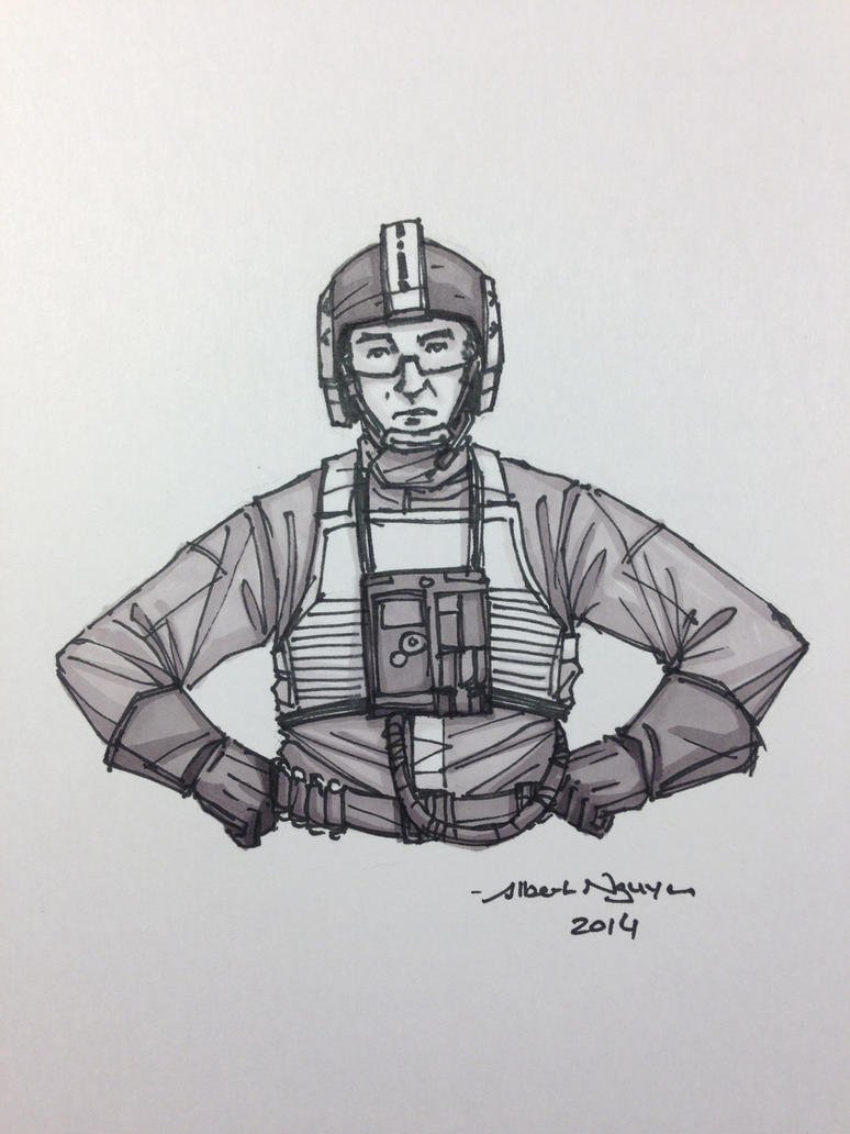 Wedge Antilles Sketch by nguy0699