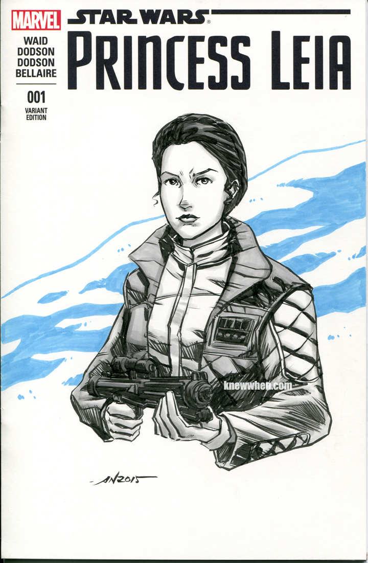 Hoth Princess Leia sketch cover by nguy0699