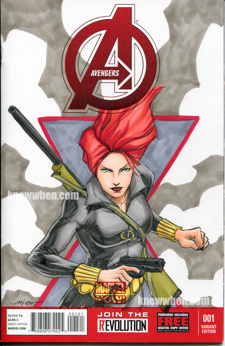 Black Widow Avengers sketch cover by nguy0699