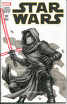 Kylo Ren Star Wars sketch cover