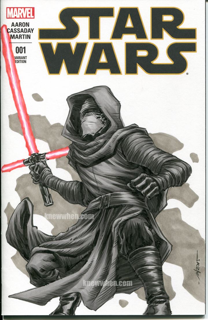 Kylo Ren Star Wars sketch cover by nguy0699