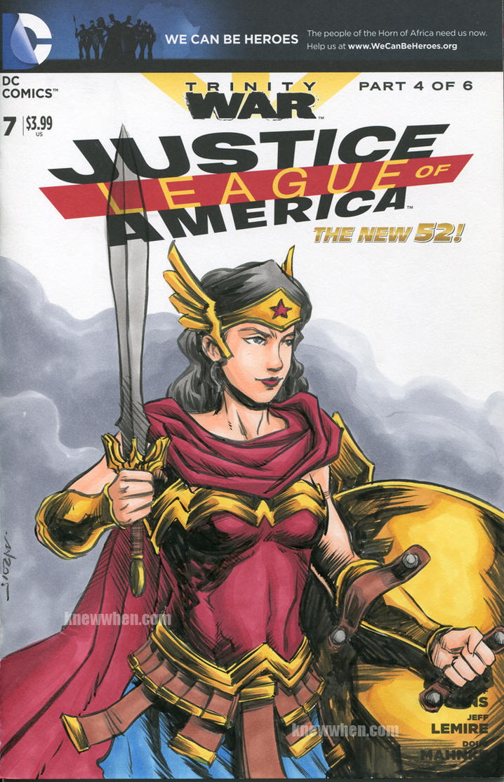 Wonder Woman Sketch Cover by nguy0699