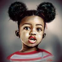 Little Afro Puffed one by heiesuke