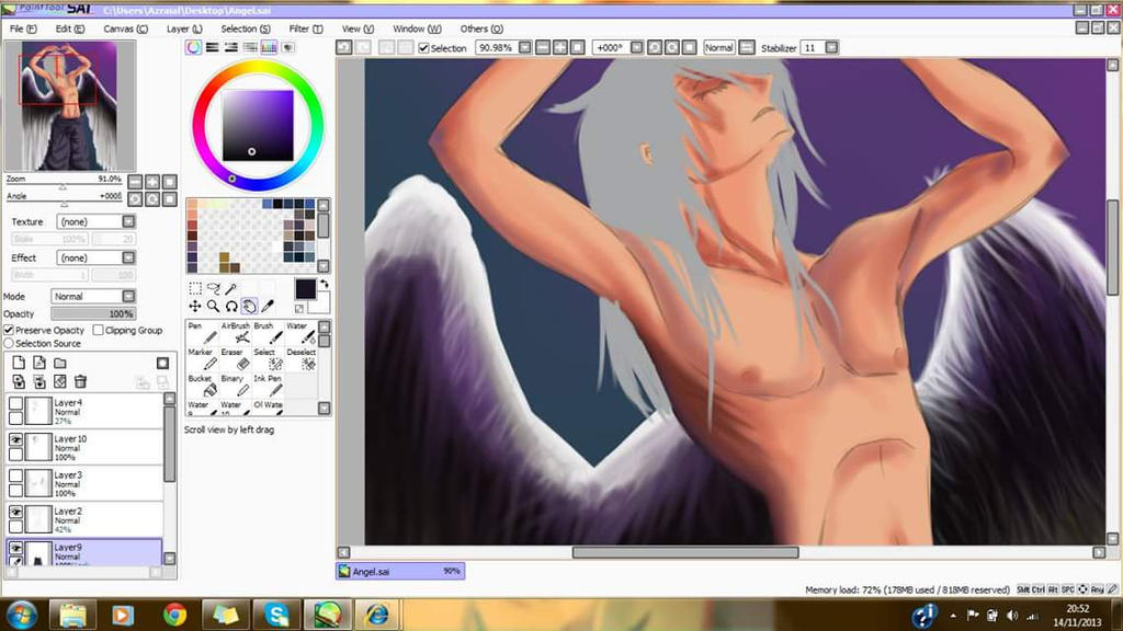 Angel W.I.P by Azraial