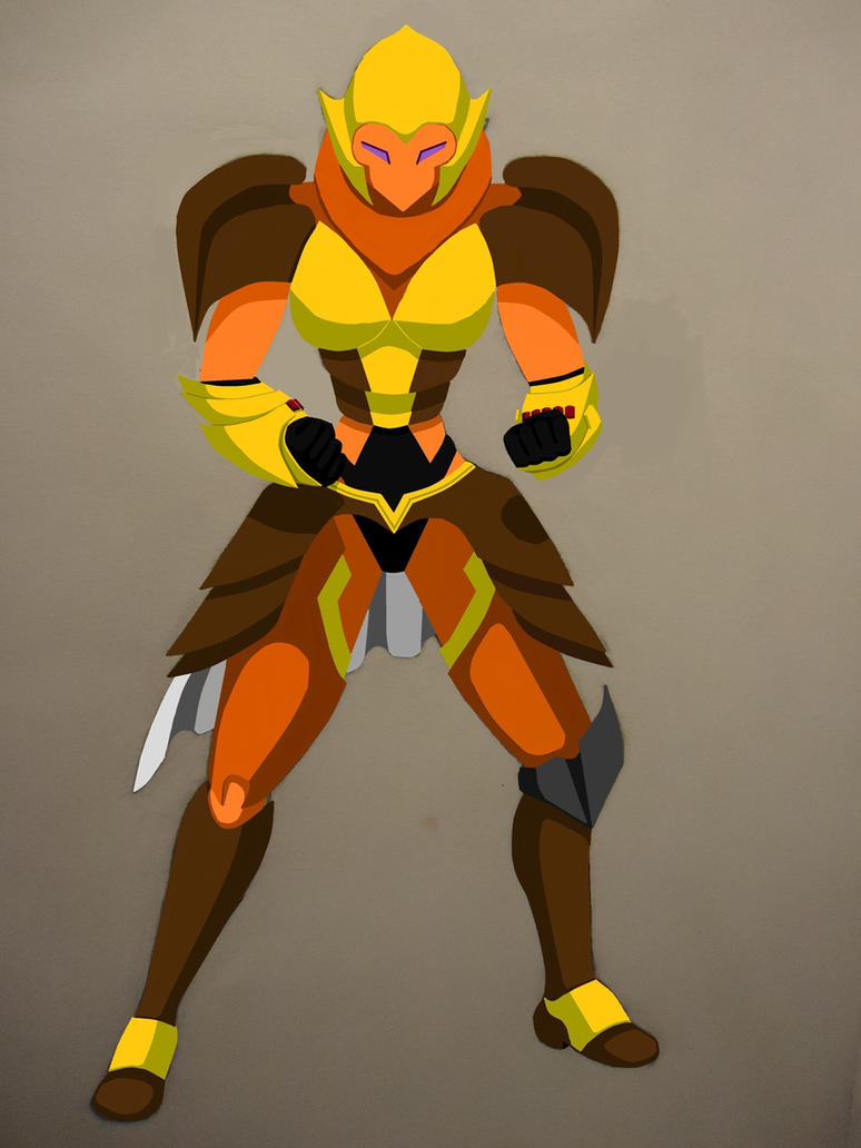 RWBY Yang Xiao Long Robot Colored (Complete) by starscreamundermybed