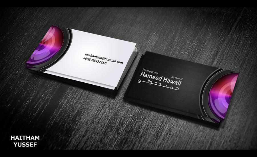 business card - photographer by HaithamYussef on DeviantArt