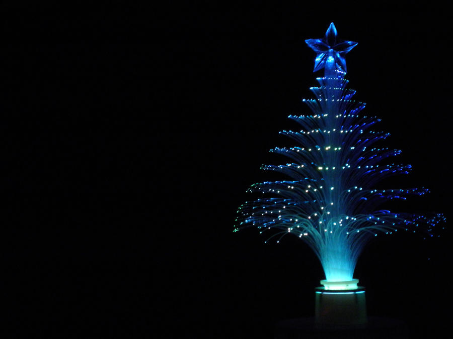 Fiber-Optic Christmas Tree - Aqua by caffeine2