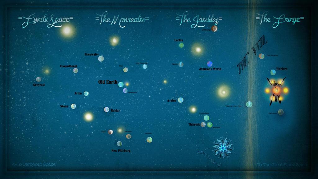 Thousand Worlds Map (version 1) by caffeine2